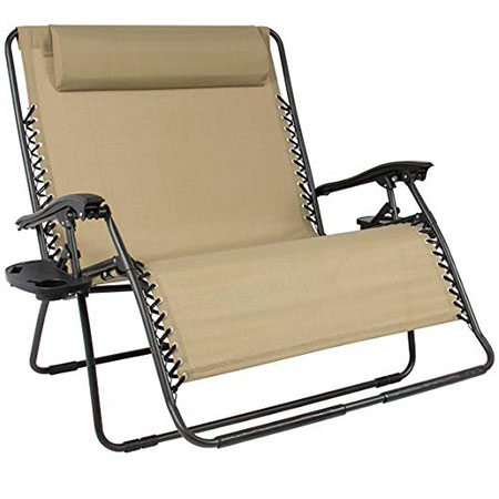 Best Choice Products Huge 2 Person Gravity Chair