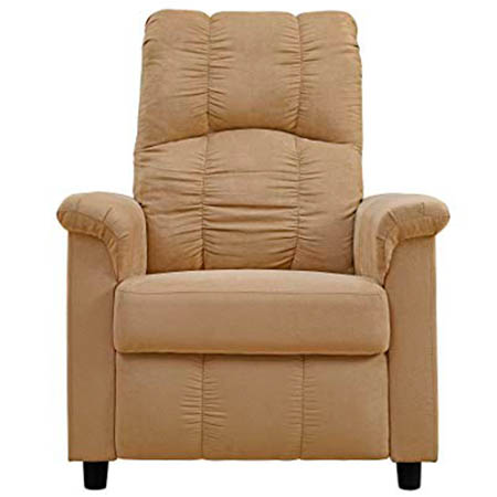 Dorel Living Slim Recliner Beige