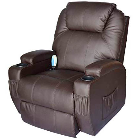 HomCom Leather Massage Recliner