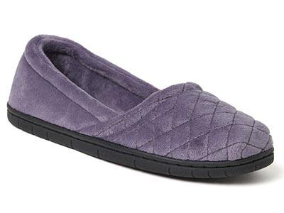 Dearfoams Women's Microfiber Velour Espadrille Slippers