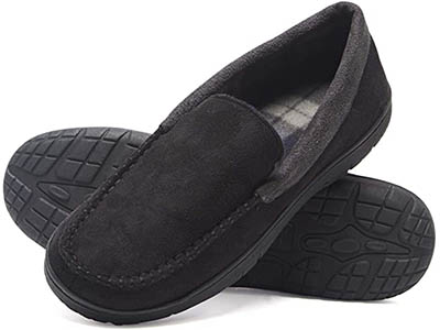 The Hanes Men's Moccasin Slipper House Shoe