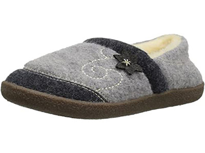 Acorn Women's Boiled Wool Edelweiss Slipper for Elderly