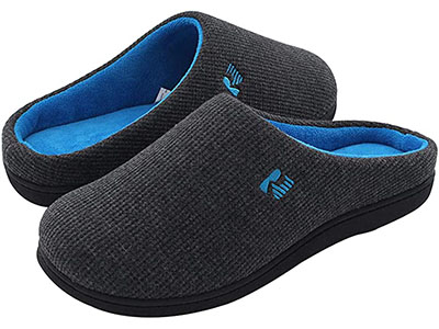 Rock Dove Two-Tone Memory Foam Slippers for Elderly Men