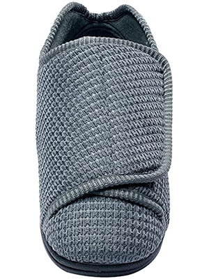 Silvert's Men Extra Wide Slippers with Adjustable Closure – Diabetic and Swollen Feet