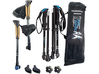 York Nordic Ultralight Foldable Walking Poles